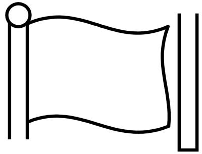 Blank flag clipart 2 » Clipart Station.