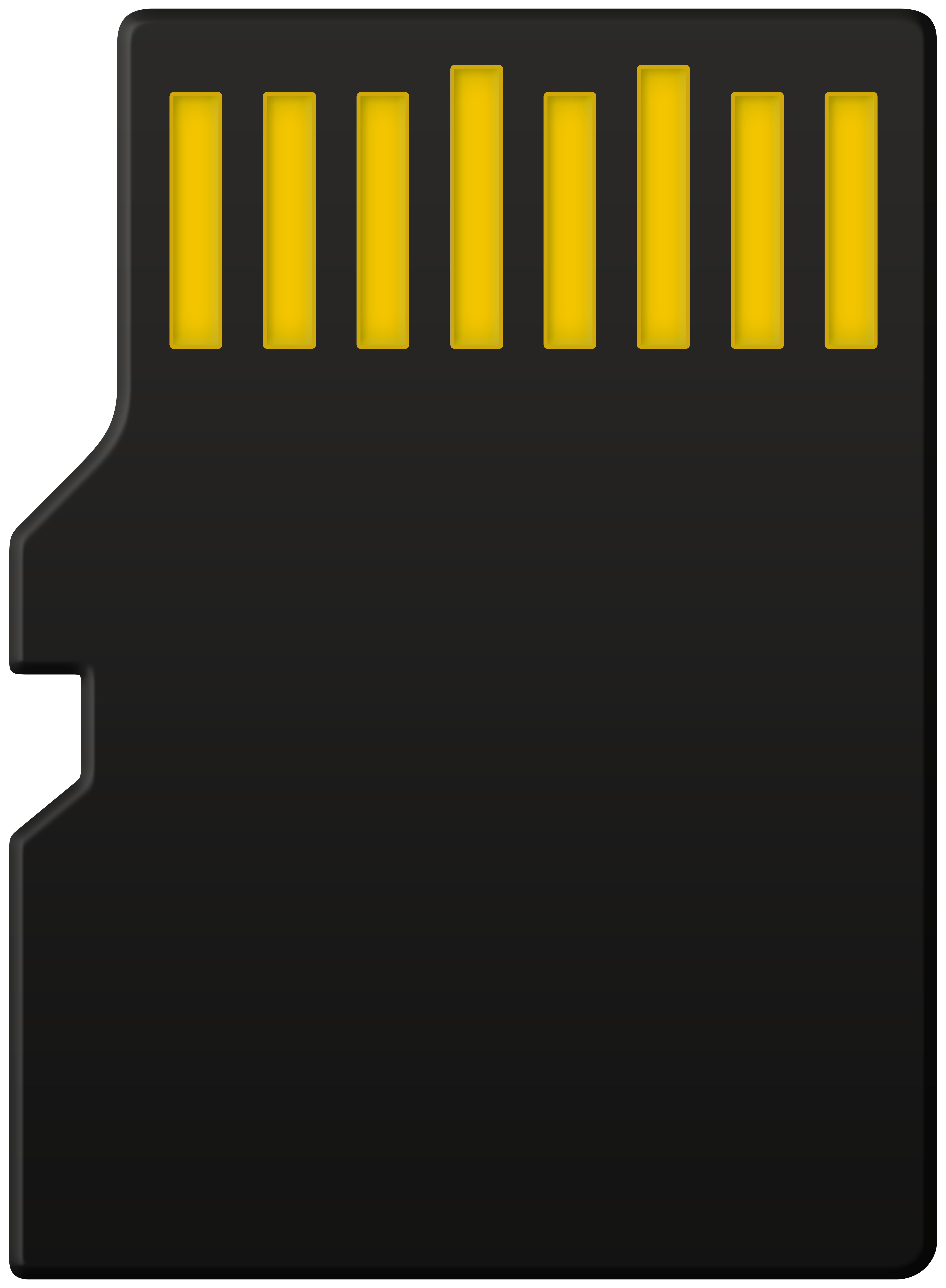 Micro SD Card Back PNG Clipart.
