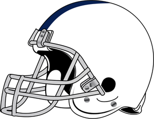 Helmet and ball for American football vector clip art.