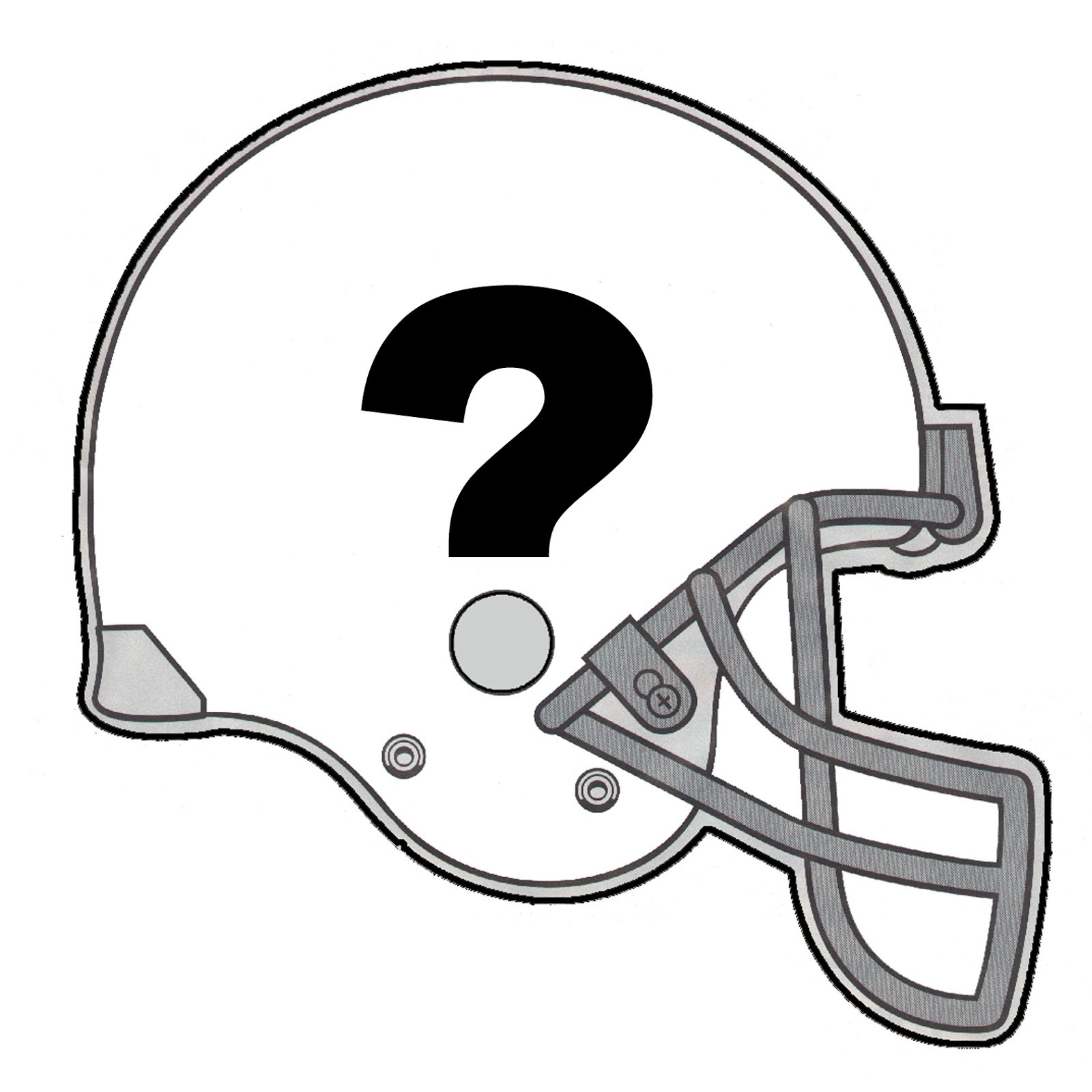 Football Helmet With Number 16 Clipart.