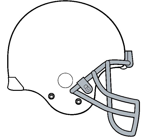 Blank Football Helmet Clipart#2227265.