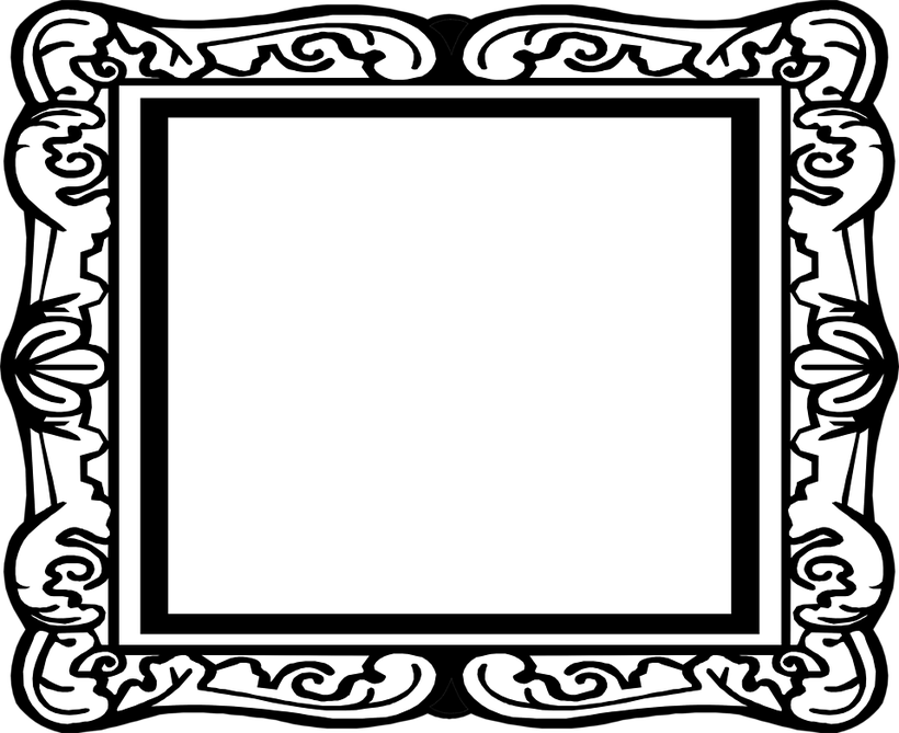 Blank Picture Frames Clip Art.