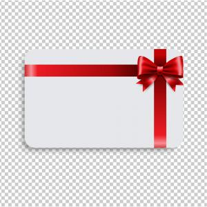 Blank Gift Tag Red Ribbon Bow Transparent Vector.