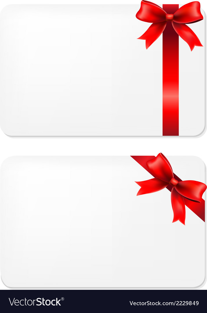 Red Bow And Blank Gift Tags.