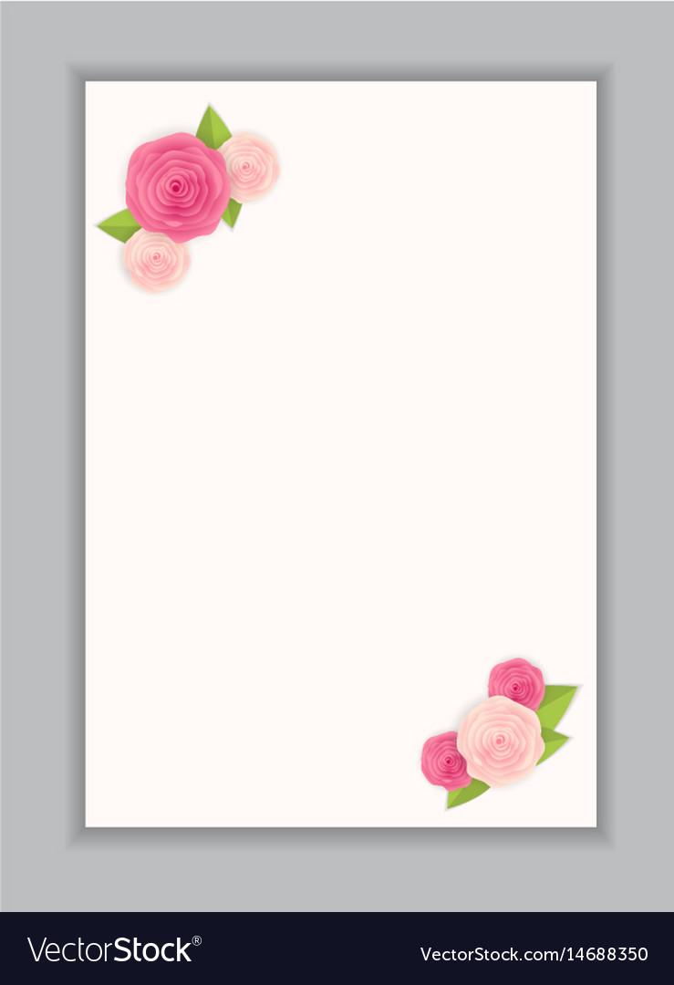 Greeting card blank template.