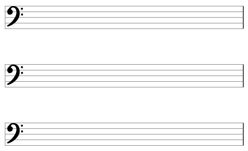 Blank Music Sheet Bass Clef Background 1 HD Wallpapers.