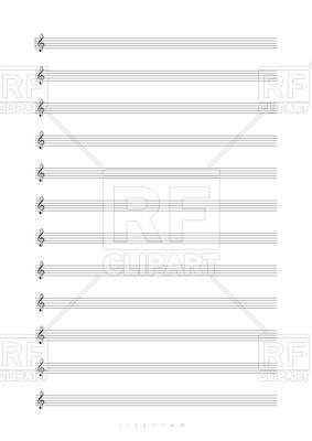 Blank Sheet Music Clipart.