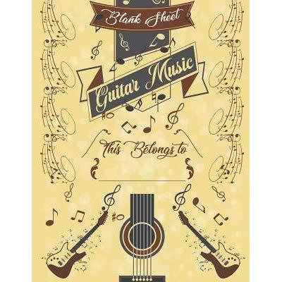 Guitar Music Blank Sheet: 100.