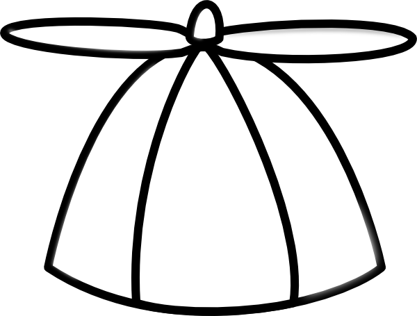 Blank Propeller Hat Clipart Clip Art at Clker.com.