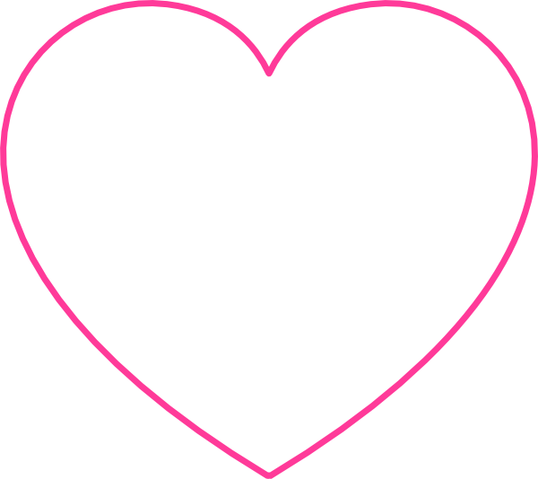 Pink Blank Heart Clip Art at Clipart library.