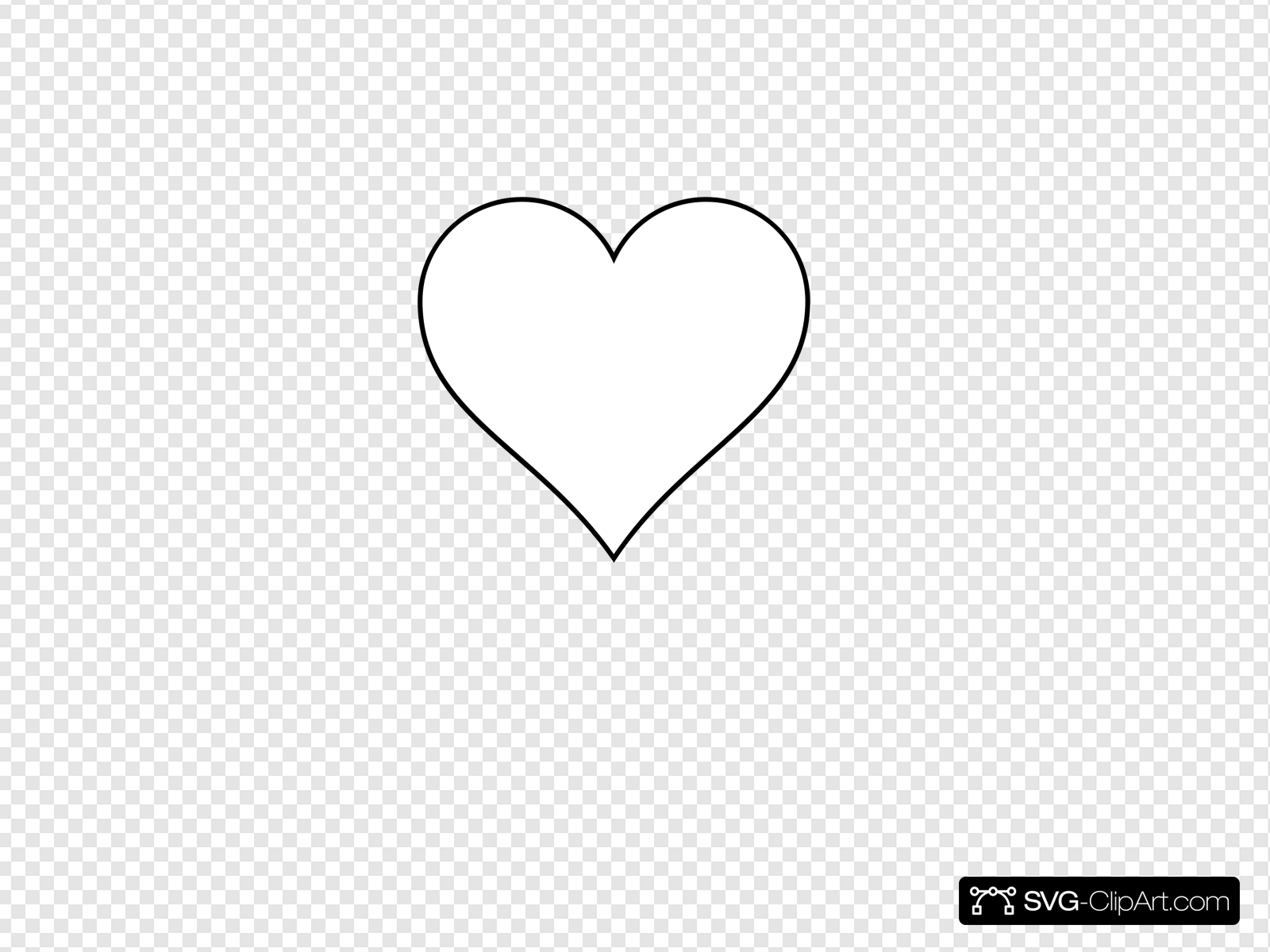 Blank Heart Clip art, Icon and SVG.