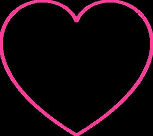 Pink Blank Heart Clip Art at Clker.com.
