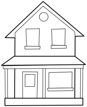 Blank House Clipart.