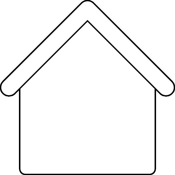 Clip Art Blank House.