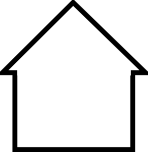 Blank House Cliparts.