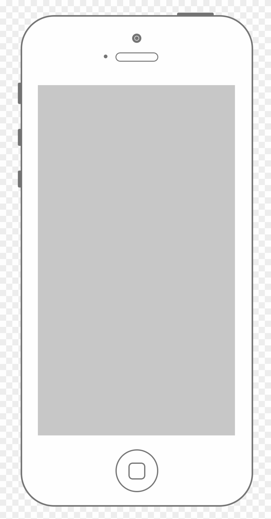 Apple Iphone Clipart Blank.