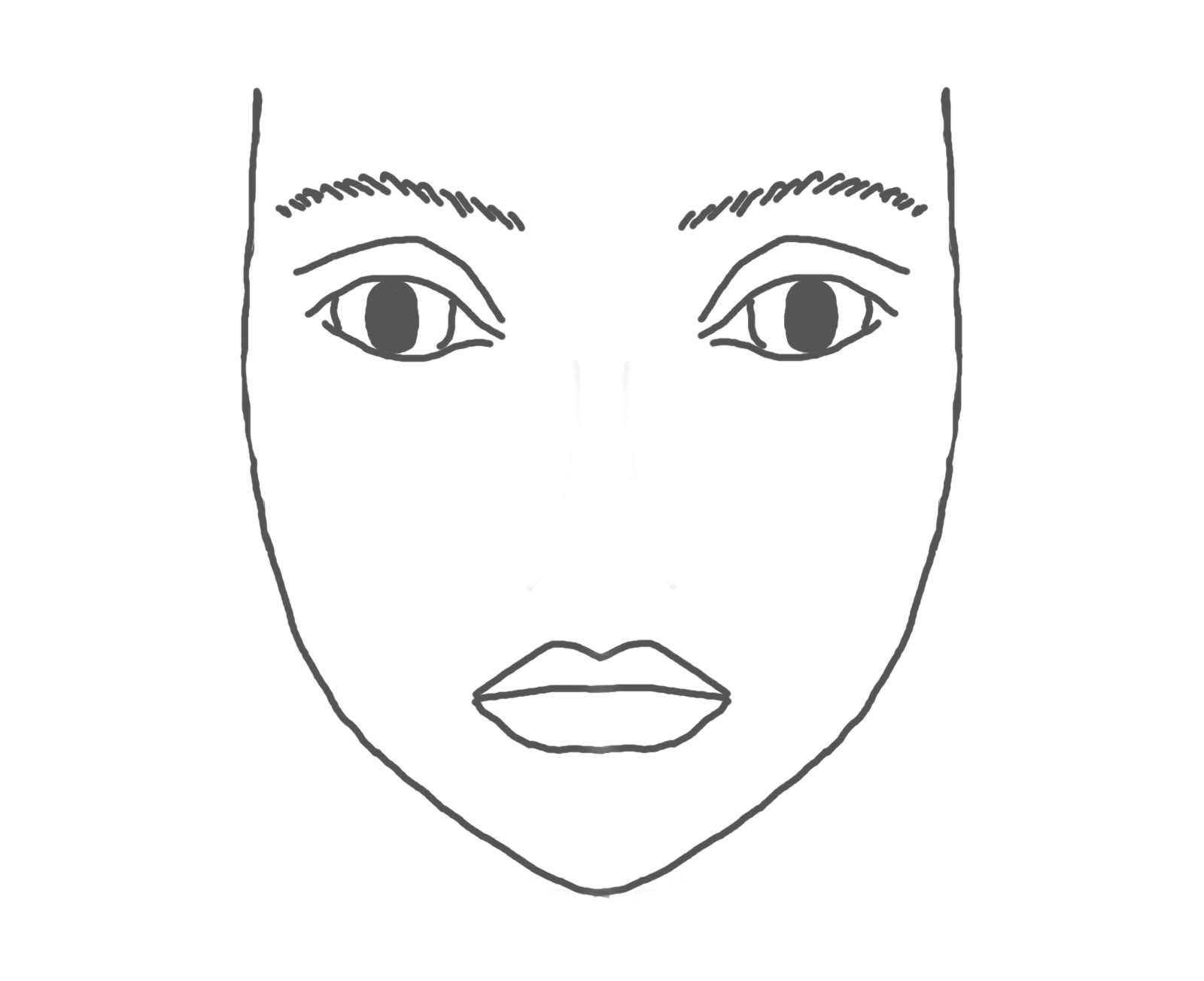 Blank Face Outline.