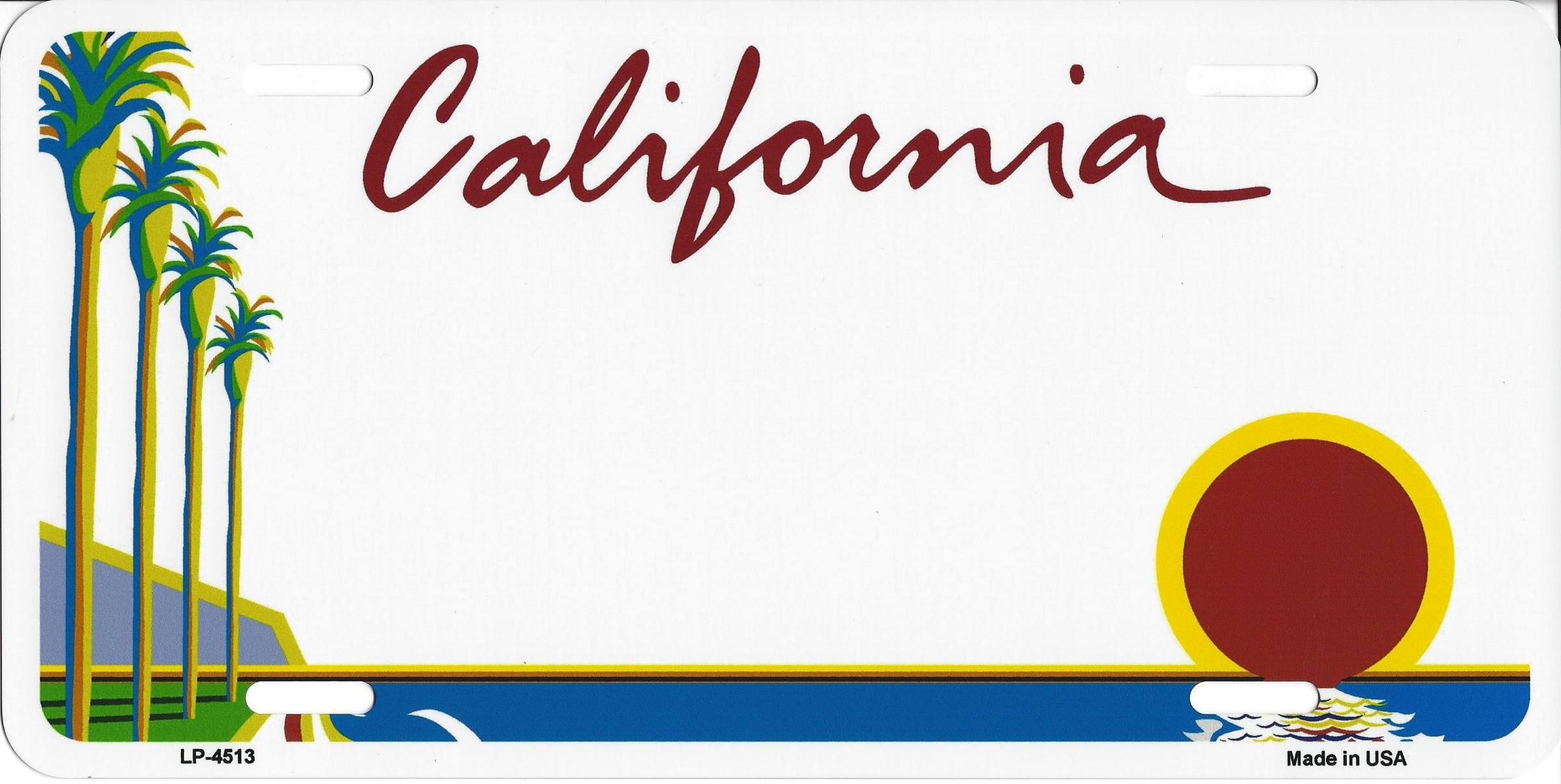 California License Plate.