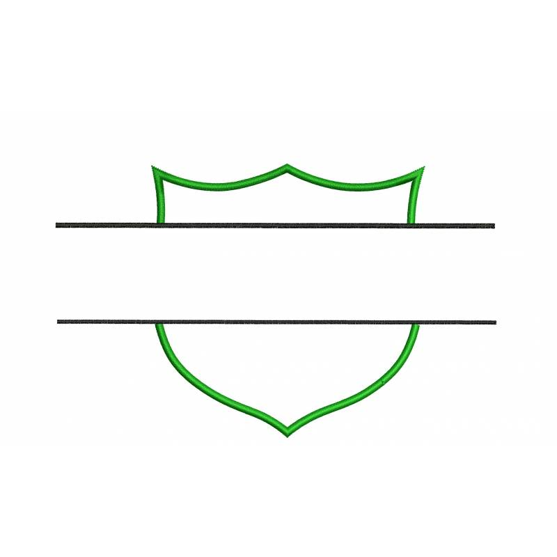 Blank Logo Frame Embroidery Design.