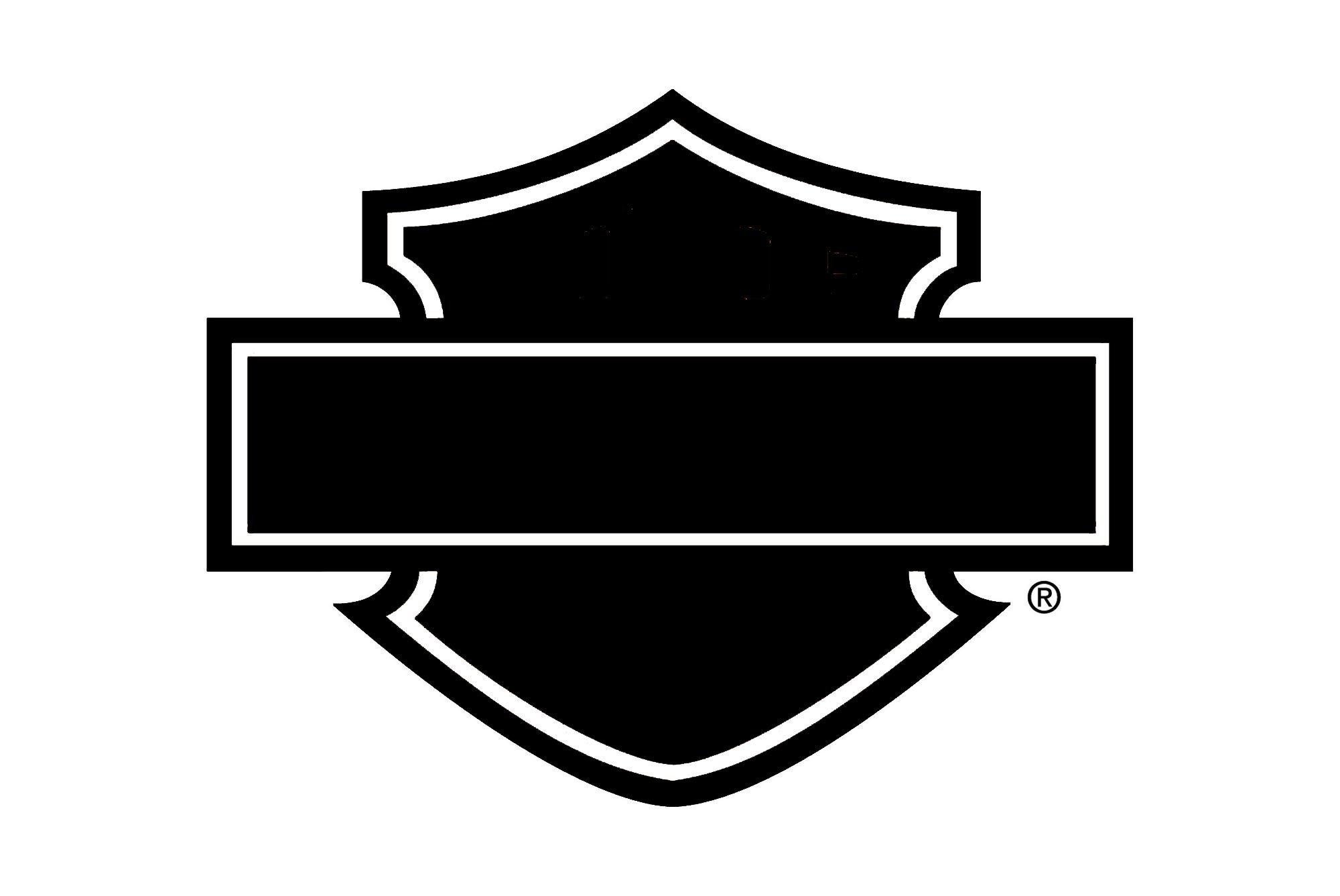 Blank harley davidson Logos.