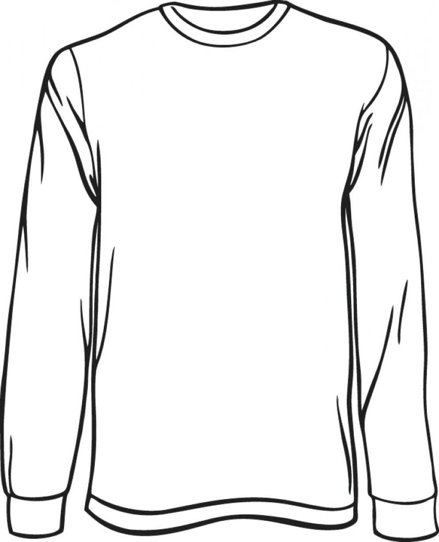 Long Sleeve Template Interest Blank Long Sleeved T Shirt.