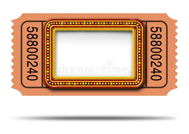 Movie Ticket Stock Illustrations.