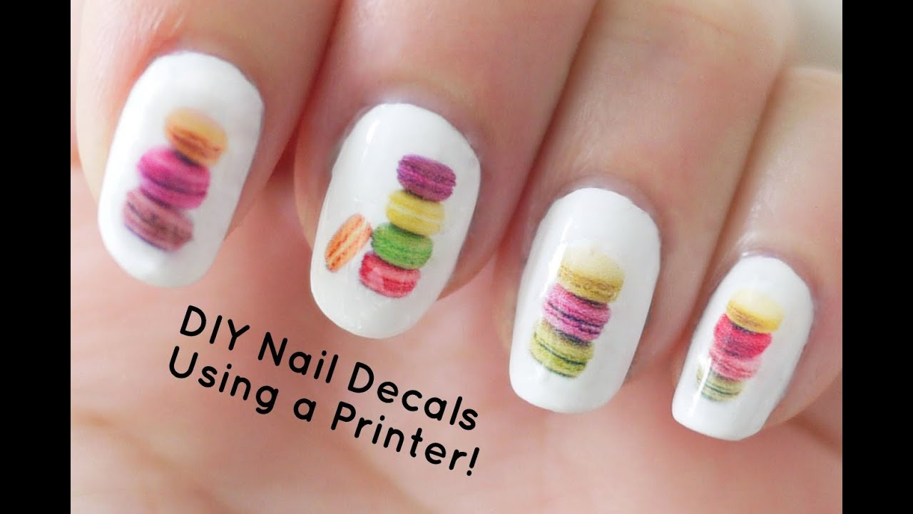 DIY Nail Art Decals Using a Printer.