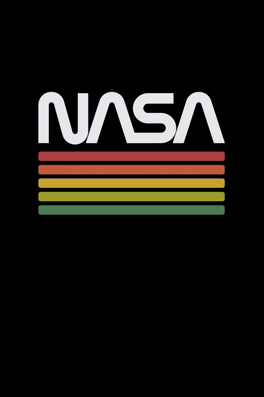 Nasa: Worm Logo Space Astronaut Lovers Gifts Blank Notebook.