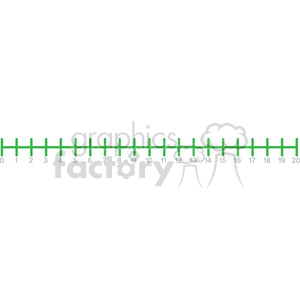 one twenty number line template clipart. Royalty.