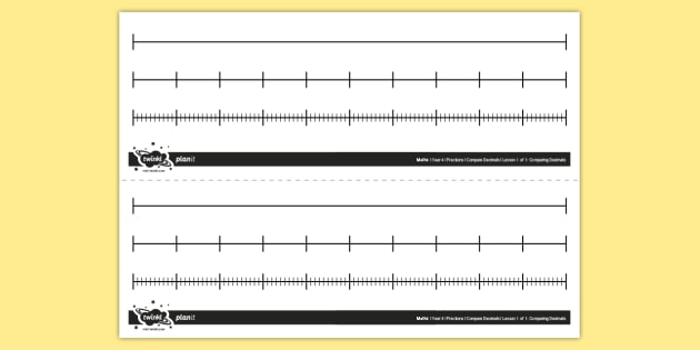 Editable Blank Number Lines.