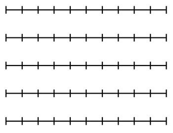 Blank Number Line (for any activity).
