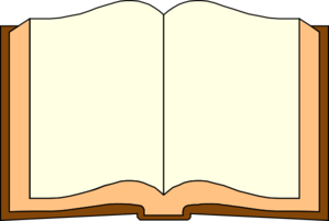 Open Blank Book Clipart.