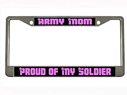 Amazon.com: Army Mom Proud of My Soldier Auto Steel License.