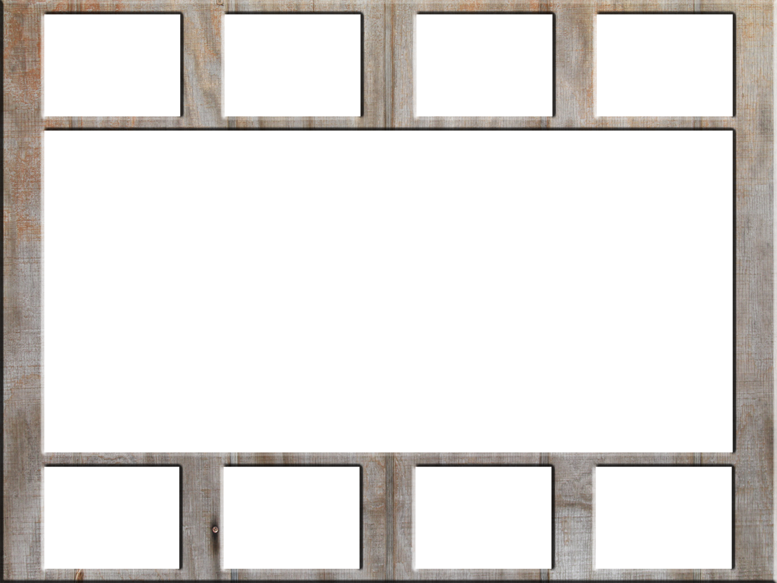 Blank Photo Frames Collage Transparent & PNG Clipart Free.