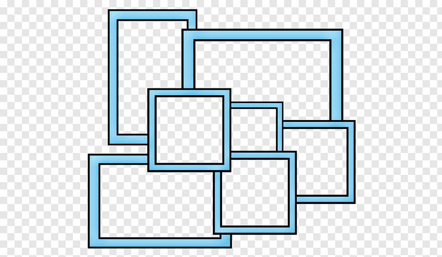 Blue collage frames, Collage frame, Collage frame free png.