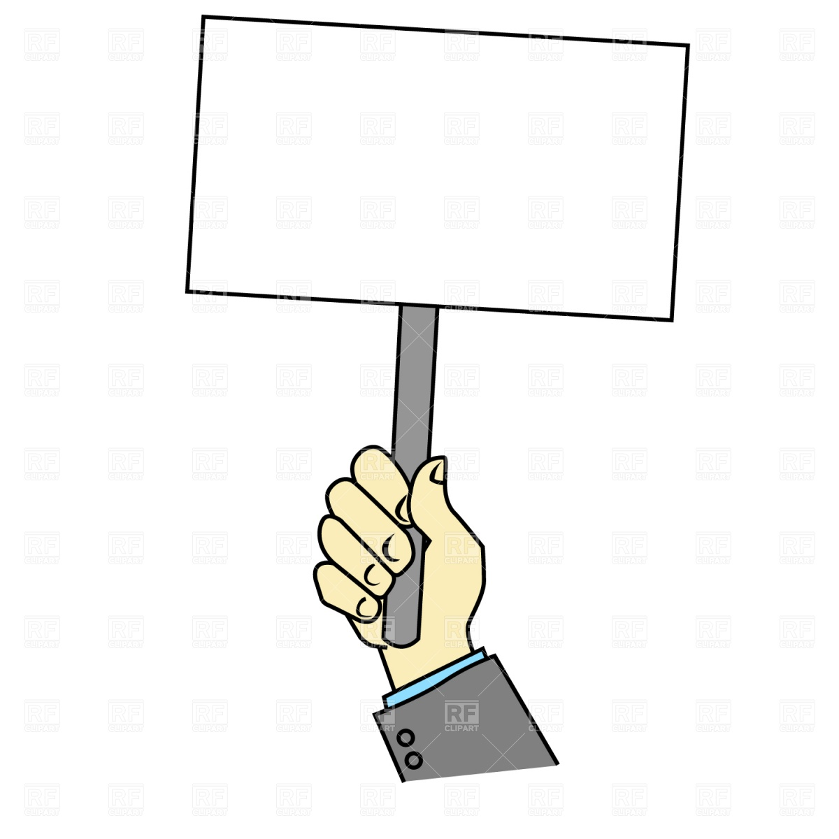 Protest Sign Clipart.
