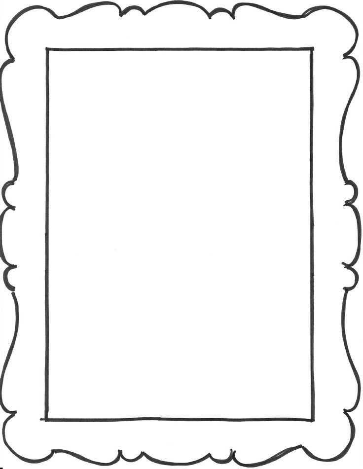 Empty Picture Frame Clipart.
