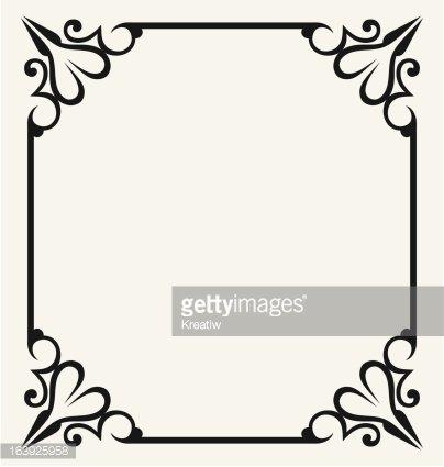Blank frames Clipart Image.