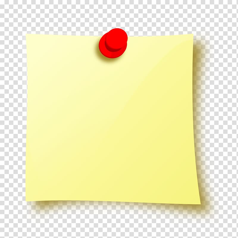 Blank yellow post it note, Paper Post.