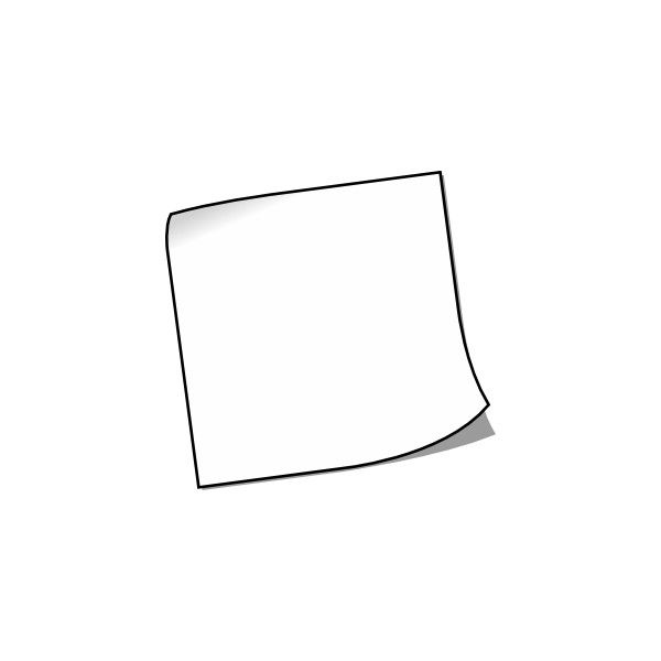 Blank Sticky Note clip art.
