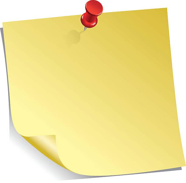Blank Sticky Note Clipart.