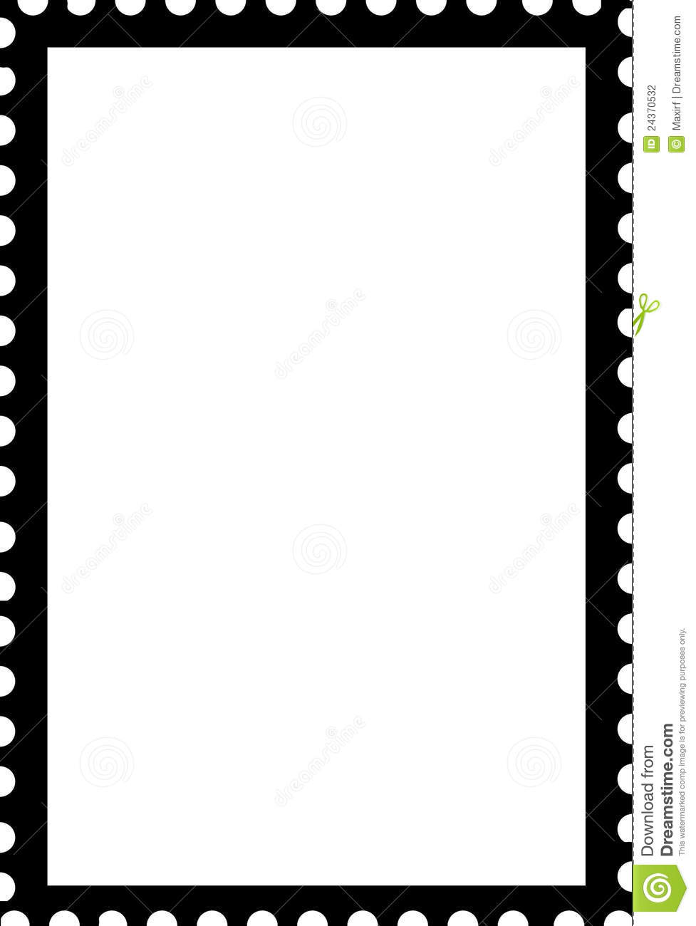 Stamp Outline Clipart.