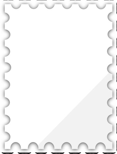 Blank Postage Stamp Template Dedicated To Susi Tekunan By.