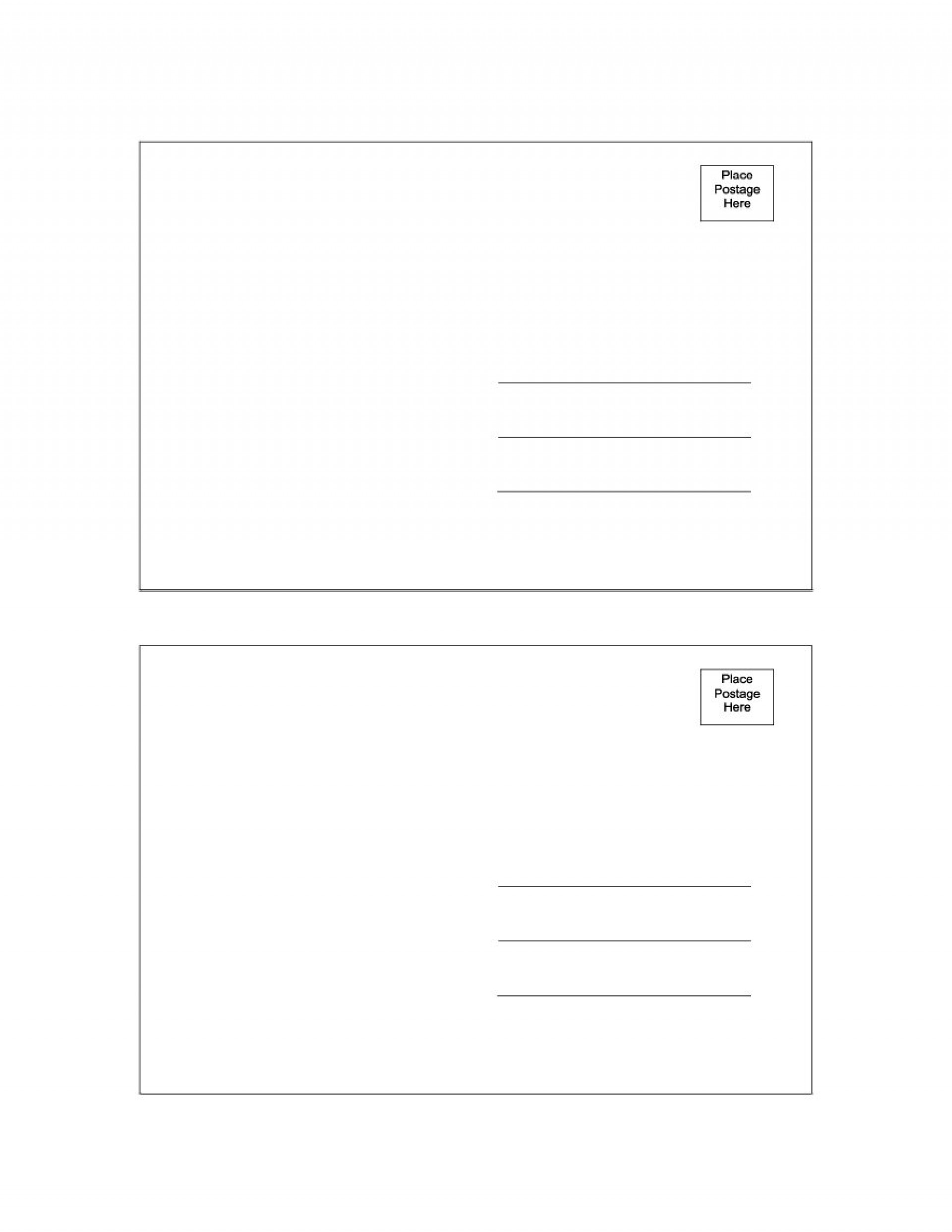 047 Postcard Clipart Template Blank Free Fascinating Ideas.