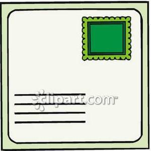 A Blank Postcard with a Stamp.