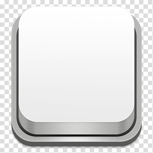 Apple Keyboard Icons, Blank, square white device icon.