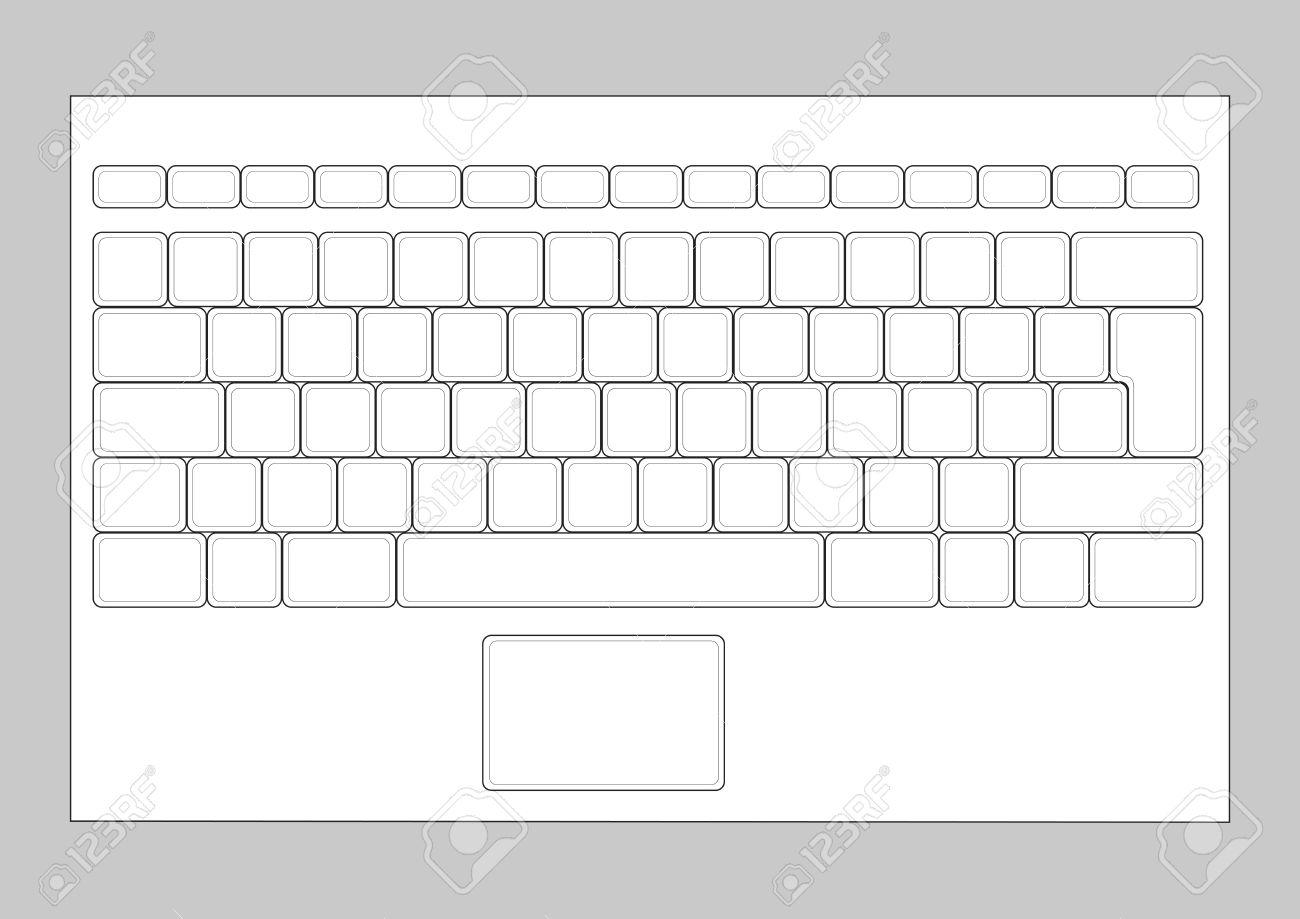 Blank Computer Keyboard Clipart.