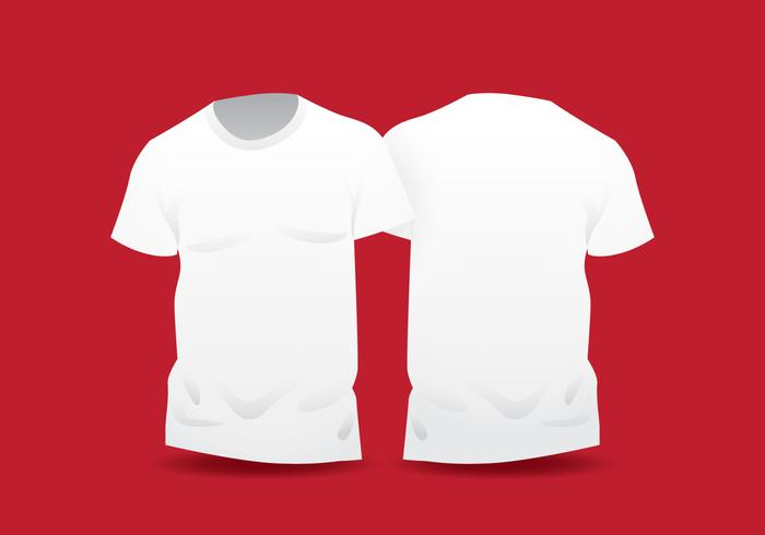 Realistic White Blank T Shirt Template.