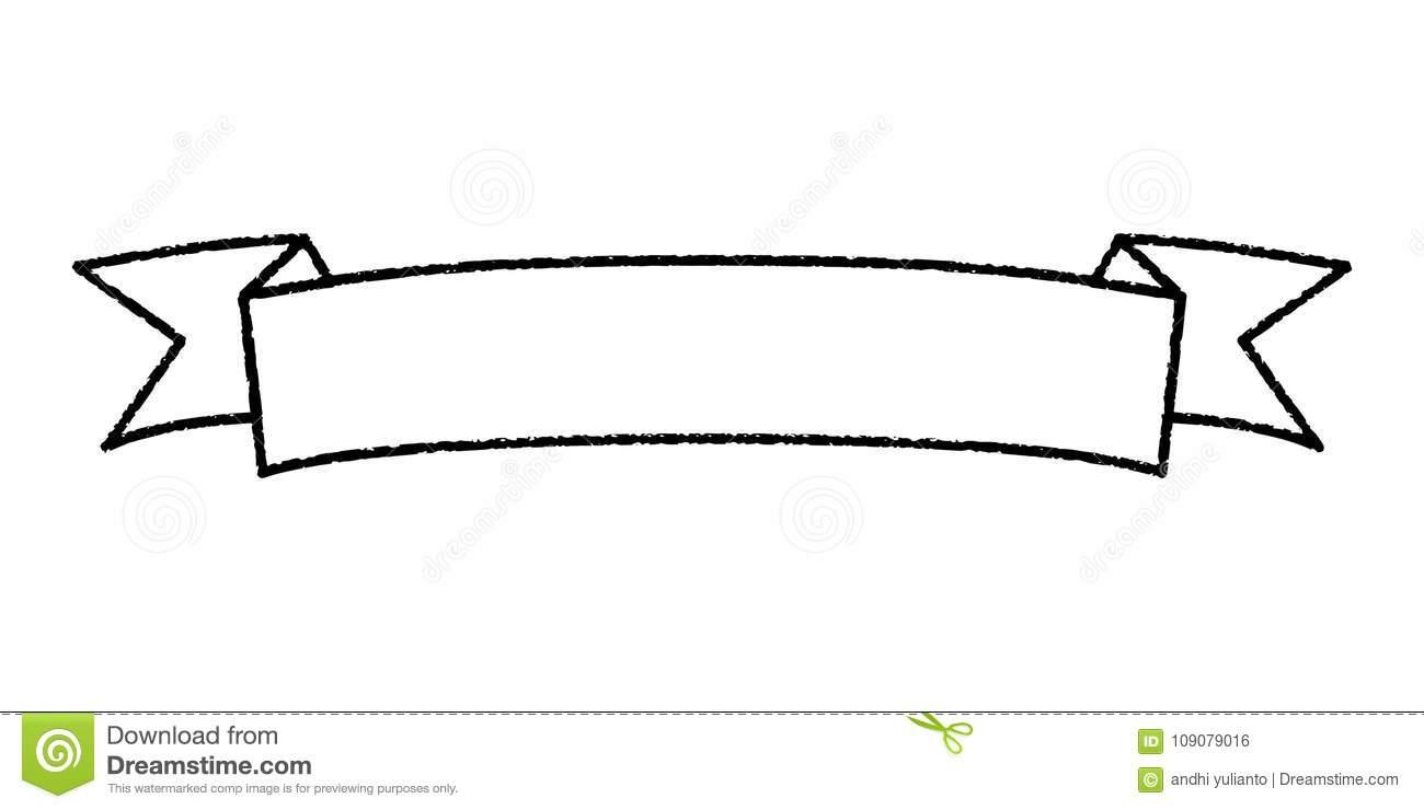 Single Blank Vintage Ribbon Banner Vector Logo Design Stock.