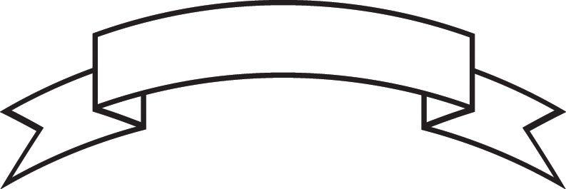 Blank Ribbon Banner Outline.